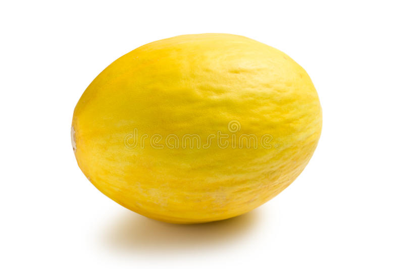 Honeydew Melon On White Background Stock Photo