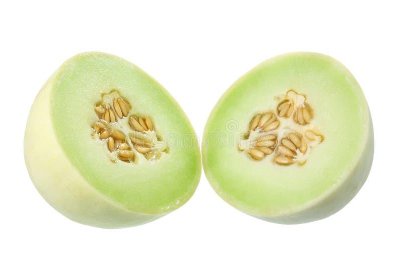 Honeydew Melon. On White Background stock photography