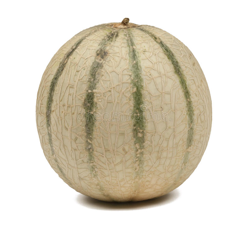 Honeydew melon. On white with path royalty free stock photography