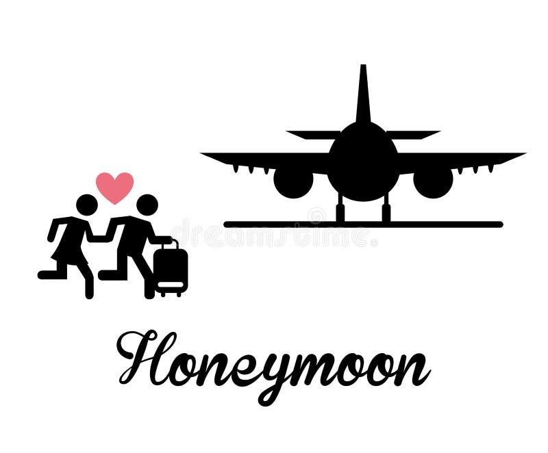 honeymoon stock illustratie
