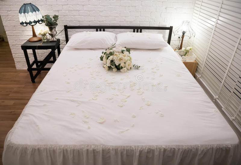 Download Honeymoon bed stock image. Image of apartment, bedding - 29712975