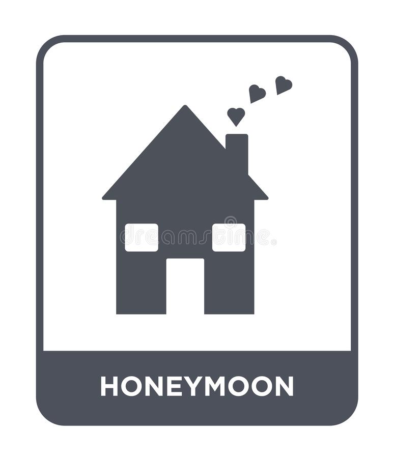 honeymoon icon in trendy design style. honeymoon icon isolated on white background. honeymoon vector icon simple and modern flat vector illustration