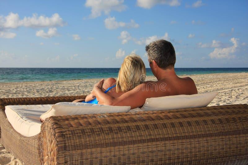 Honeymoon in paradise stock images