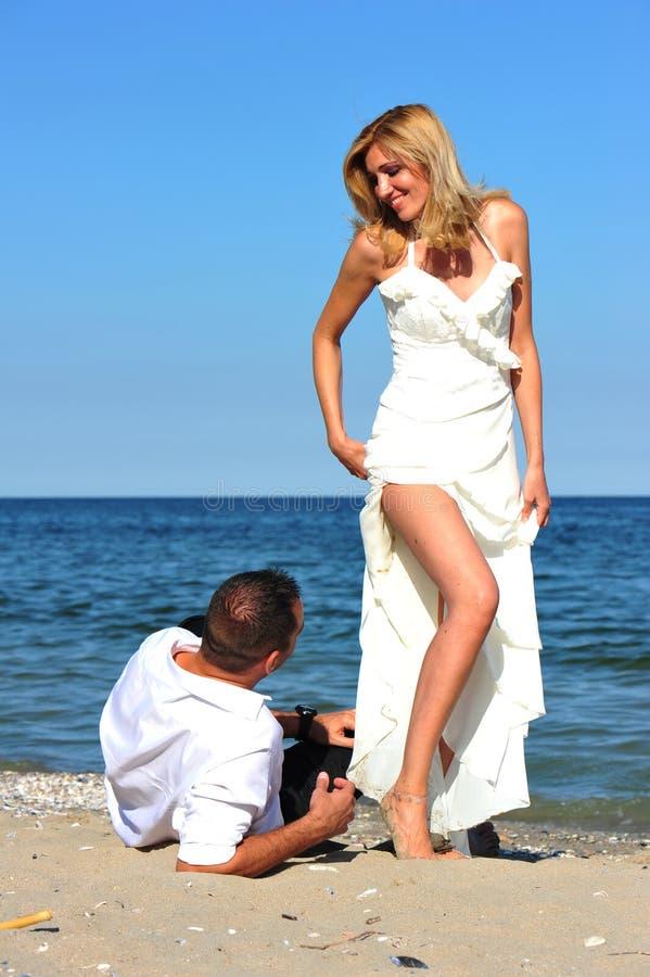 Free Honeymoon Temptation - Bride And Groom Royalty Free Stock Photo - 19752665