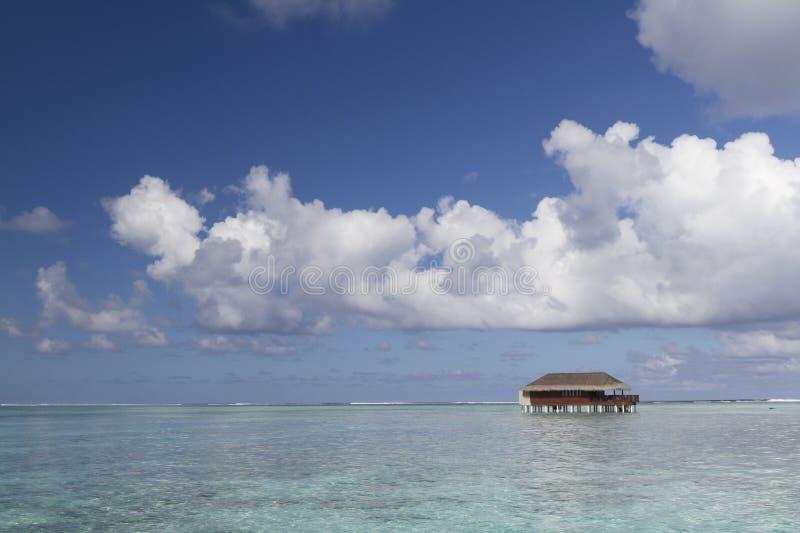 Honeymoon Water Villa stock photo