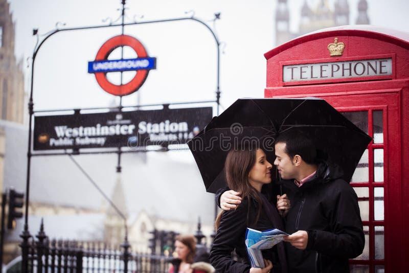 Honeymooners in Londen stock foto's