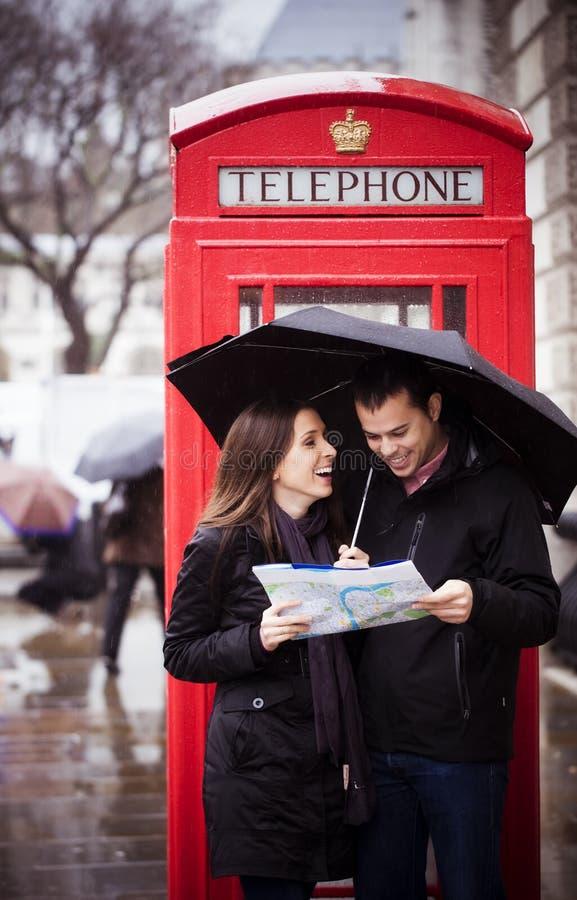 Honeymooners in London stockbild