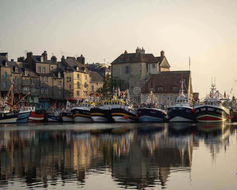 honfleur Франции стоковые изображения