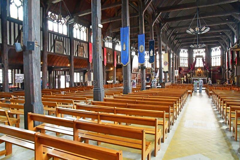 Honfleur, Франция - 18-ое августа 2016: Церковь Sainte Катрина стоковое фото