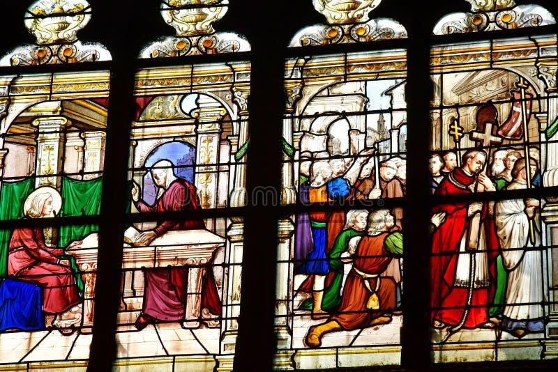 Honfleur, Франция - 18-ое августа 2016: Церковь Sainte Катрина стоковое изображение