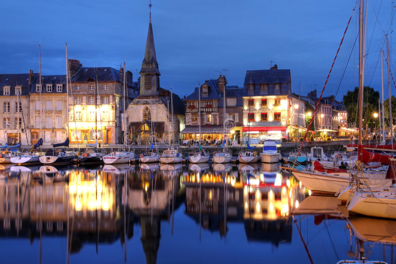 Download Honfleur, France stock image. Image of architecture, twilight - 15462277