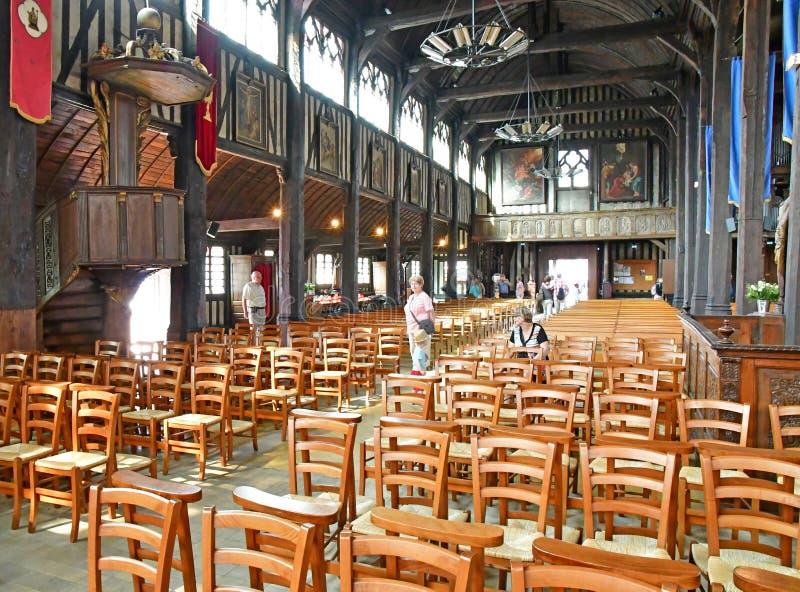 Honfleur, France - 18 août 2016 : Église de Sainte Catherine photo libre de droits