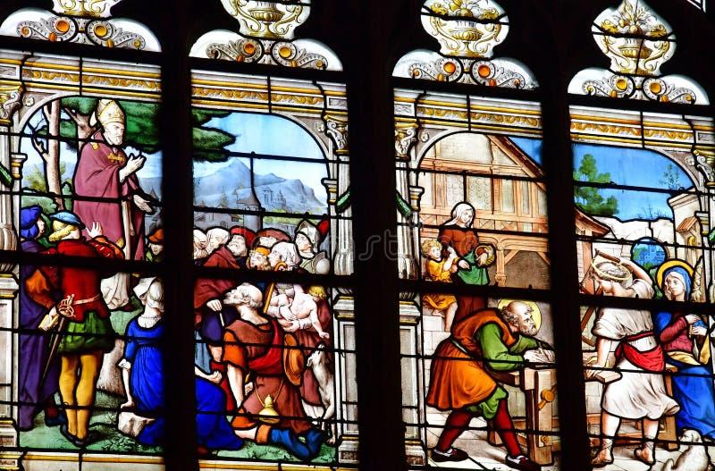 Honfleur, France - 18 août 2016 : Église de Sainte Catherine images stock