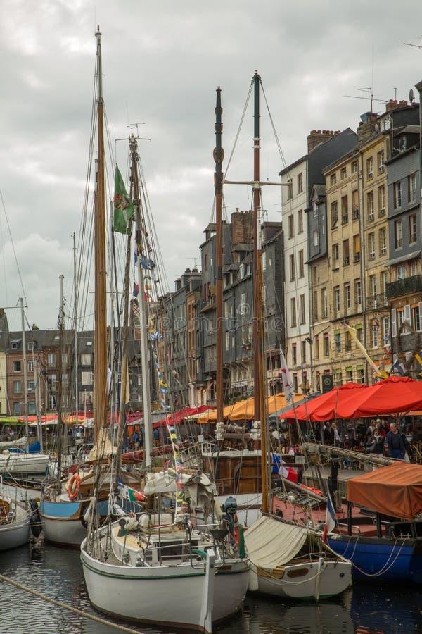 Honfleur-Hafen 2 stockfotos