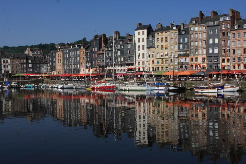 Honfleur Harbour, Normandy, France royalty free stock image