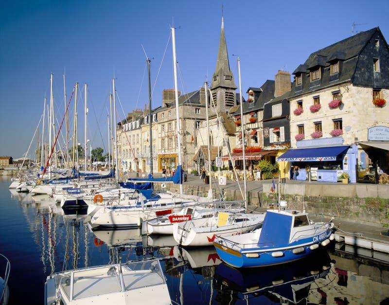 Honfleur, Normandië Frankrijk stock foto's