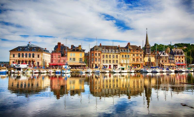 Honfleur Normandie Frankrike royaltyfria bilder