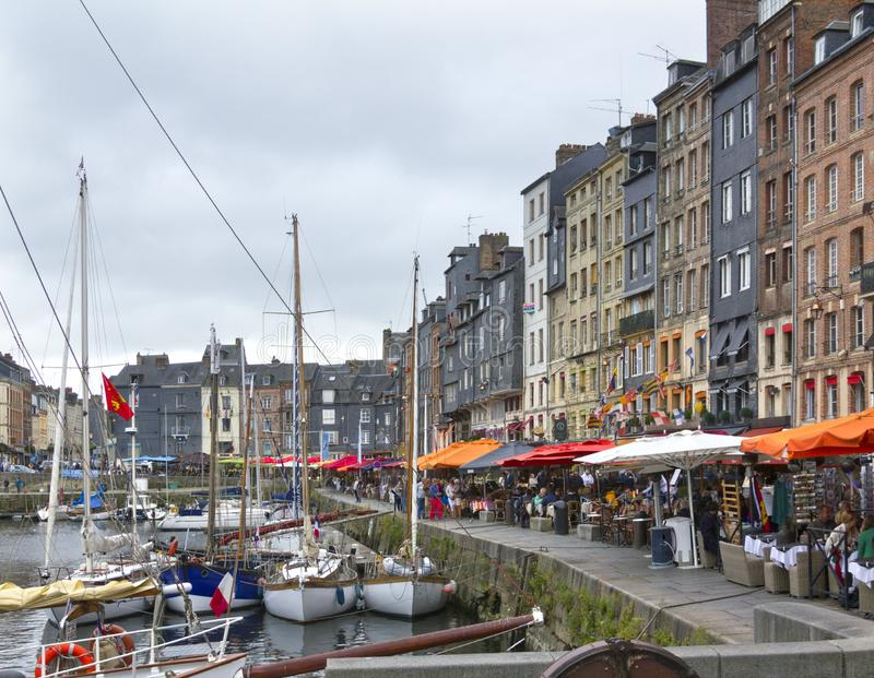 The harbour, Honfleur, Normandy, France royalty free stock images