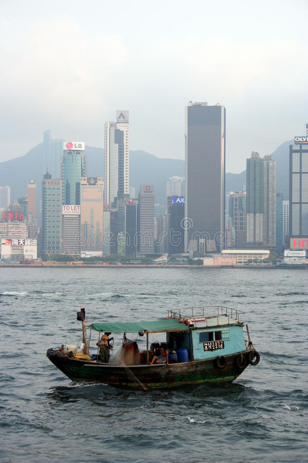 hong łódkowaty target239_1_ kong fotografia stock