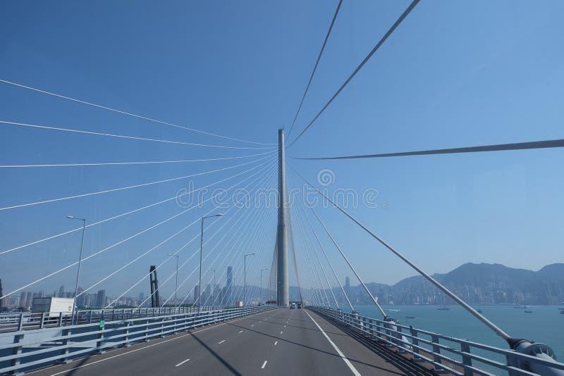 hong bridżowy kong zdjęcie stock