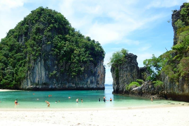 Hong Island, province de Krabi, Thaïlande - 17 juillet 2016 : Célèbre images stock