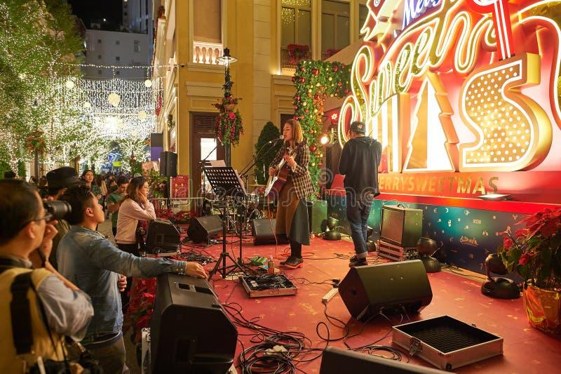 Hong Kong à Noël photo stock