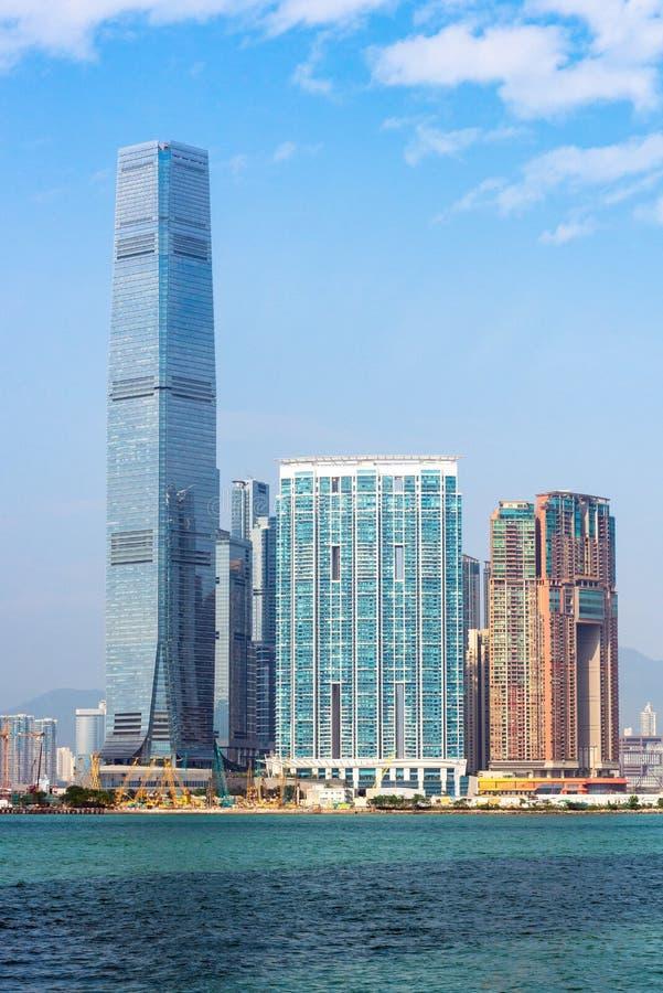 Hong kong śródmieście sławny pejzaż miejski zdjęcia royalty free