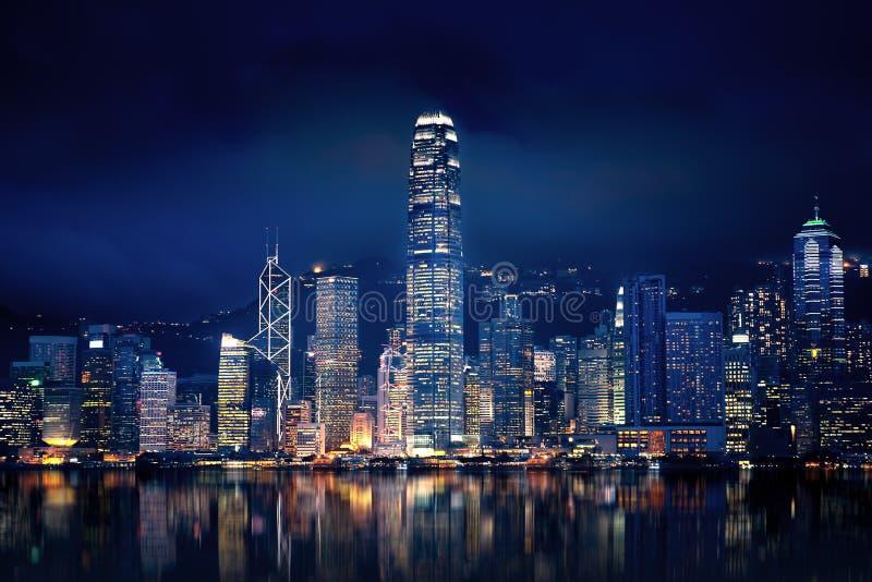 Hong Kong Światła obraz royalty free
