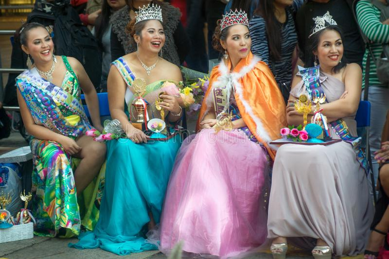 Hong-Kong-03 12 2017: Конкуренция красоты мисс в HK стоковые фотографии rf