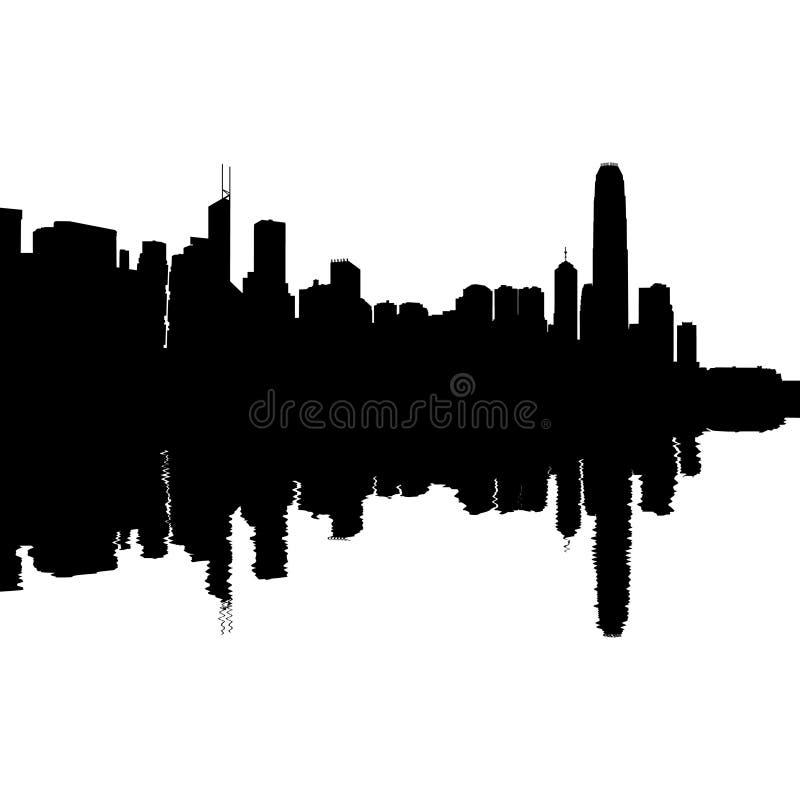 Hong Kong отразило горизонт бесплатная иллюстрация