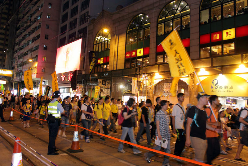 Hong Kong 1 July Marches 2012