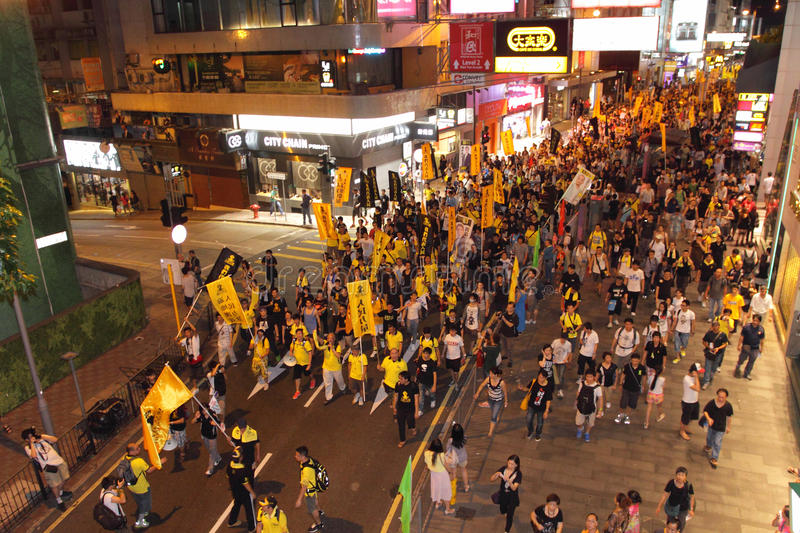 Download Hong Kong 1 July Marches 2012 Editorial Stock Image - Image: 25555834