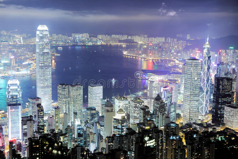 Hong Kong. Central district skyline stock photo
