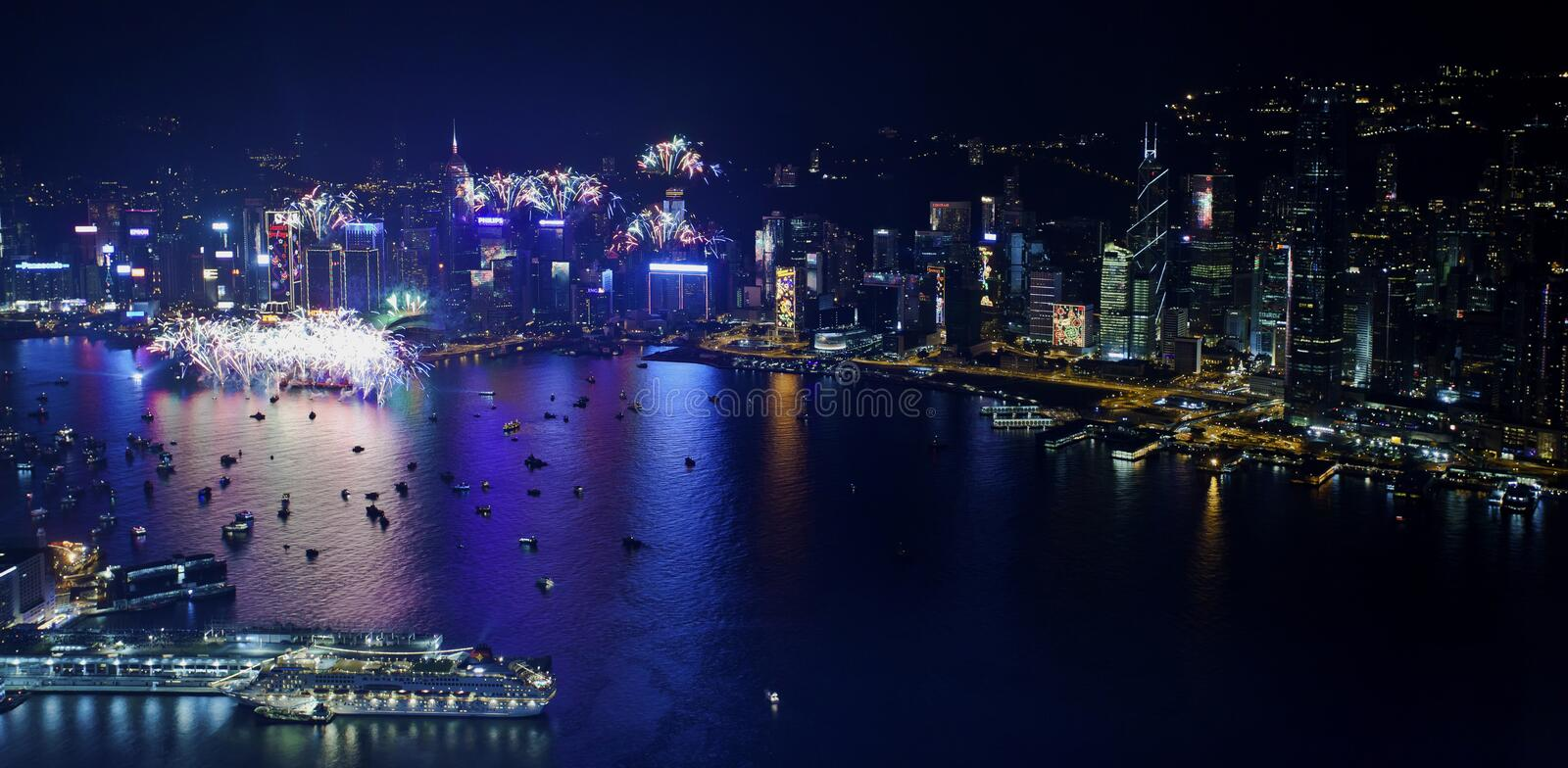 Download Hong Kong 2013 Countdown Fireworks Editorial Stock Image - Image: 28512469