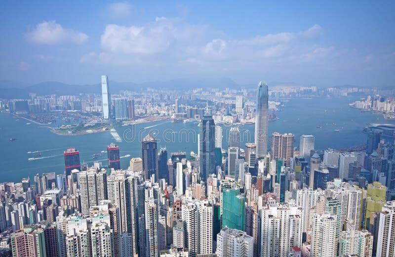 Hong Kong. At morning and modern buildings royalty free stock image