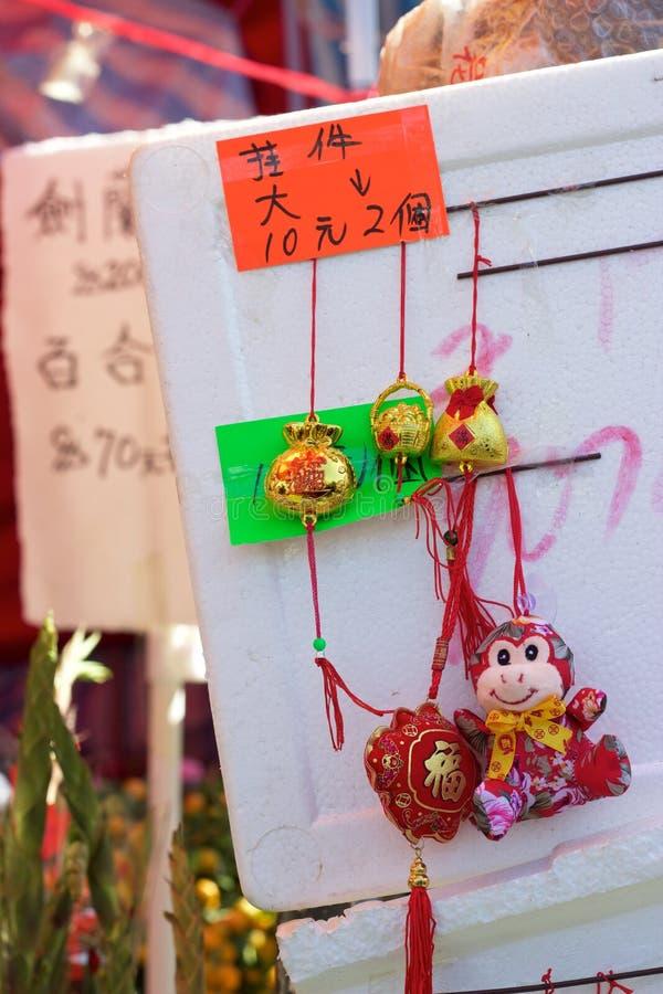 Hong Kong, Año Nuevo chino: Ornamento del mono para la venta imágenes de archivo libres de regalías
