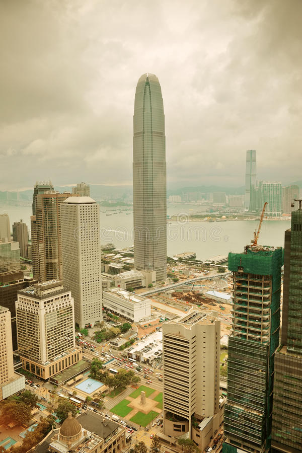 Download Hong Kong aerial view stock photo. Image of harbour, famous - 26318260