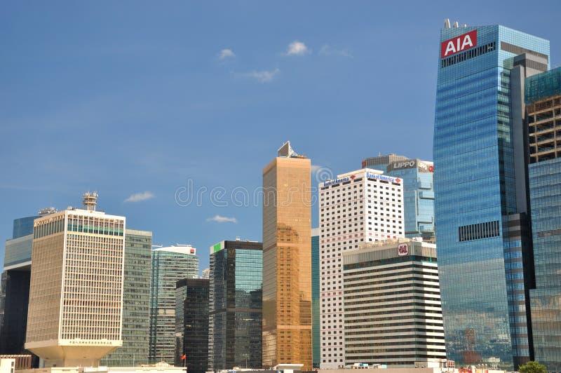 Hong Kong affär och gruppbyggnader arkivfoto