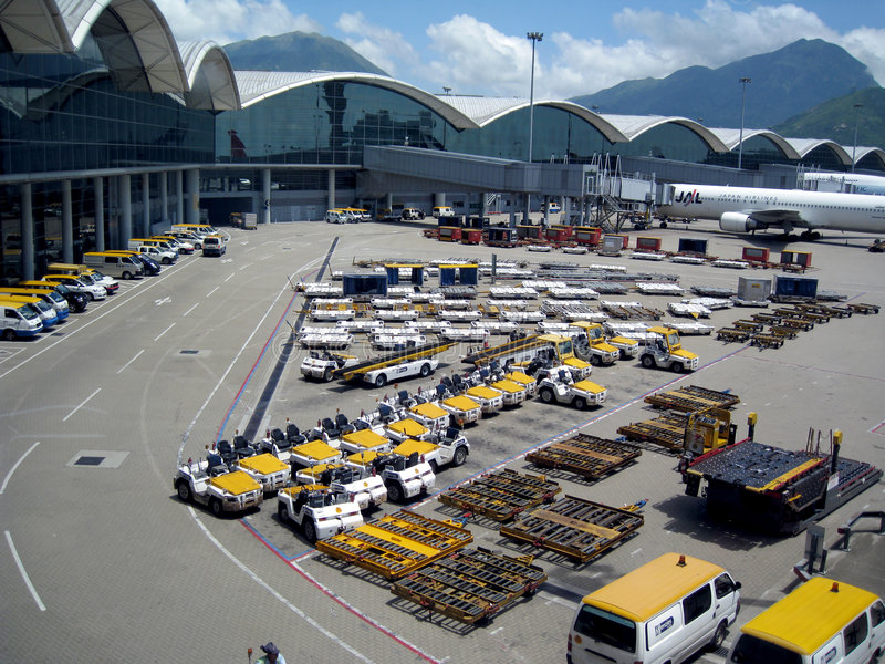 Hong Kong airport stock photography