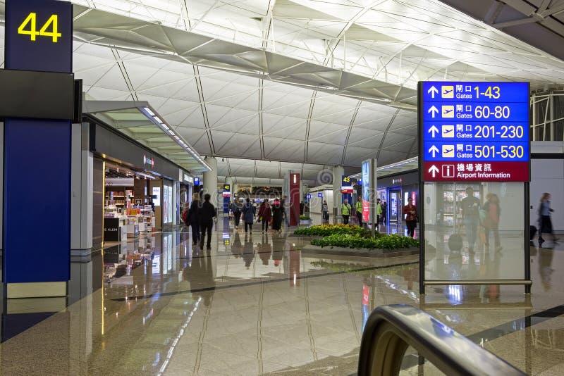 Hong Kong Airport Departure Gates imagen de archivo