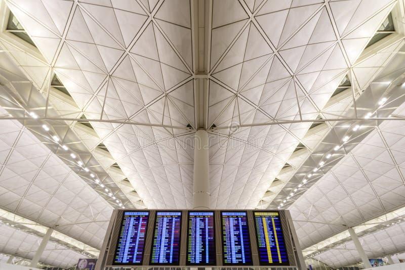 Hong kong airport stock photo