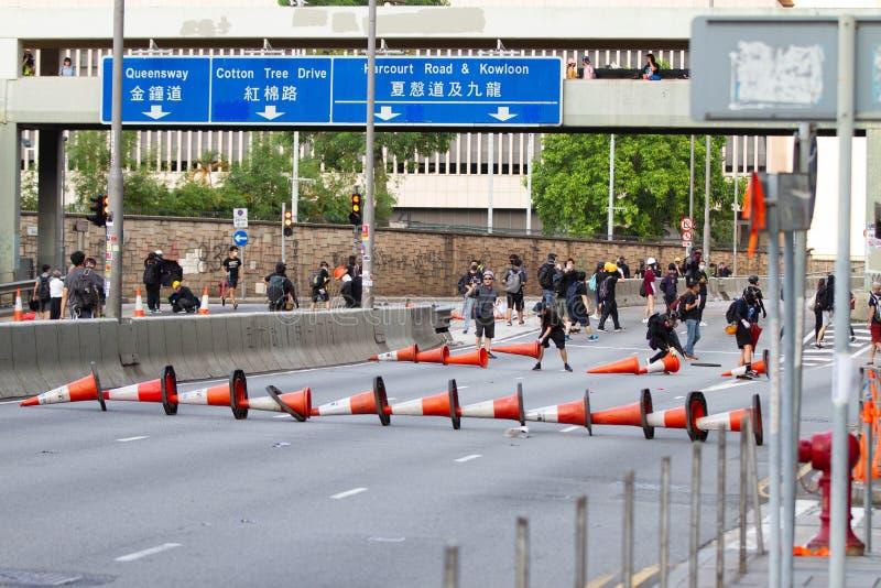 Hong Kong anti extradition bill protests royalty free stock images