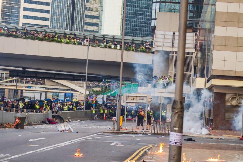 Hong Kong anti extradition bill protests stock photography