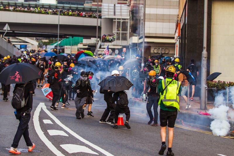 Hong Kong anti extradition bill protests stock images