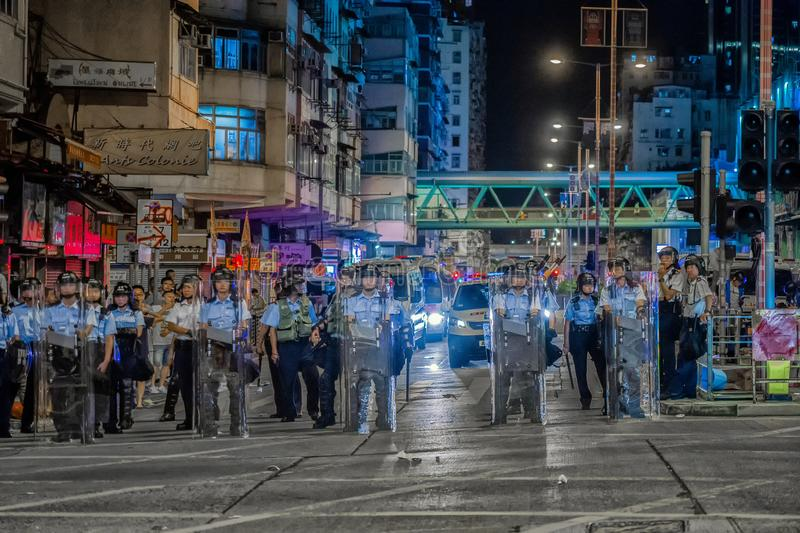 Hong Kong Anti-Extradition Bill Protests 2019 image stock