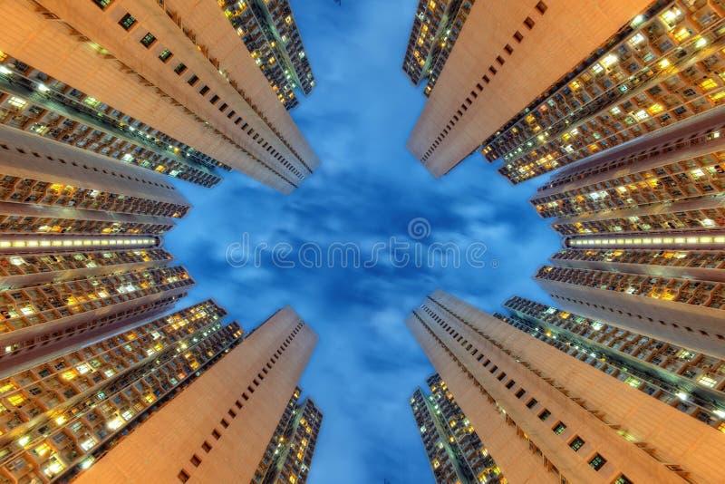 Hong Kong Apartment Tower royaltyfria foton