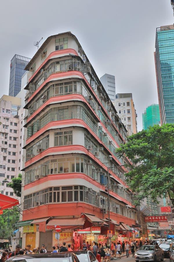 Hong Kong apretó el edificio en chai pálido imágenes de archivo libres de regalías