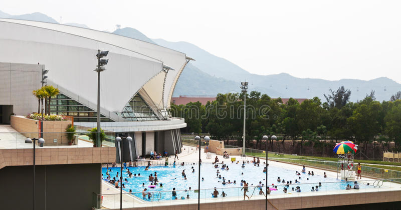 Piscina pubblica a Hong Kong fotografie stock libere da diritti