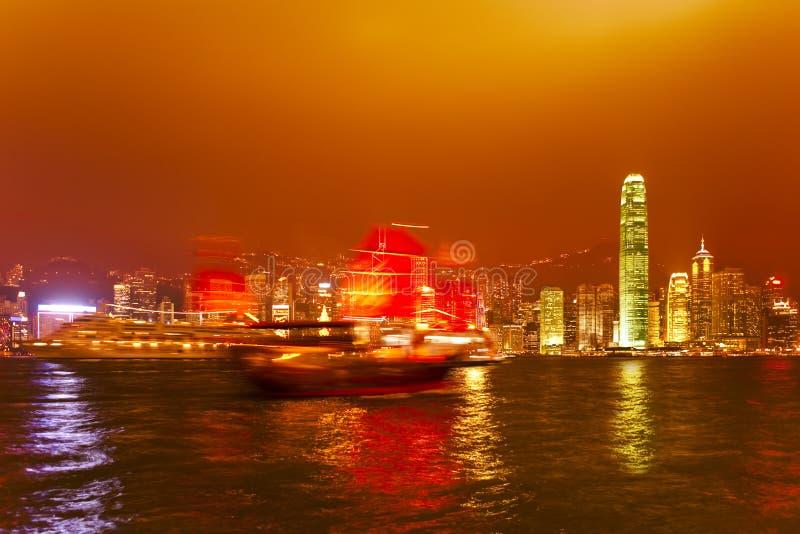 Hong Kong au coucher du soleil image stock