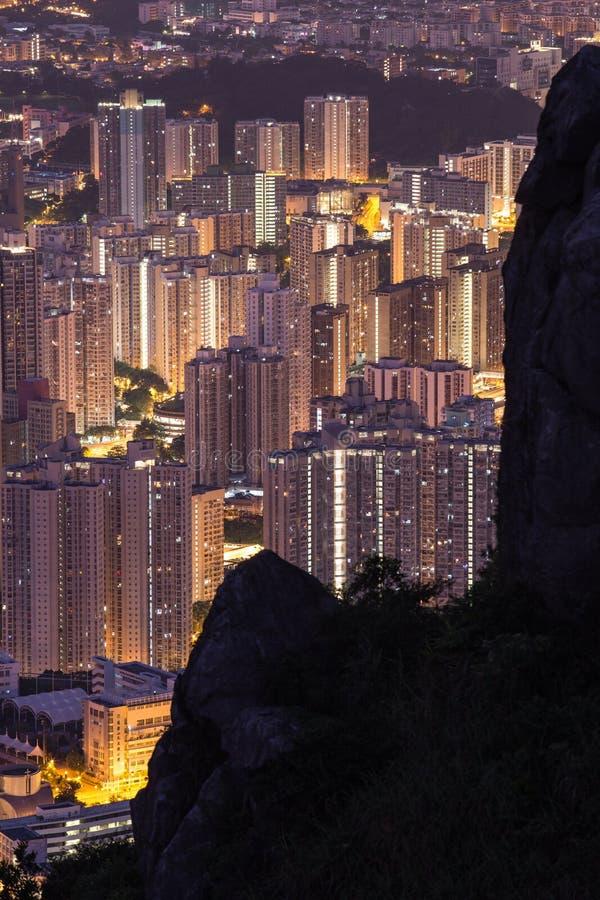 HONG KONG - AUGUST 01, 2015: Building apartment pattern Hong Kong living. royalty free stock image